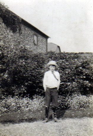 Alan as a boy outside Place Farm