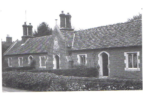 Kirtling almshouses, built in 1842 by the Marquess of Bute