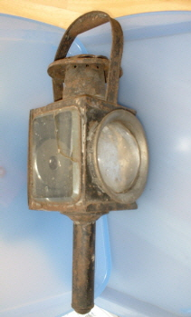 A lamp from the pony trap