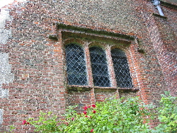 Detail of old brickwork on the parish church