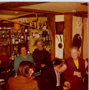 Queens Head Land Lady Shirley Storton and husband Doug in 1972
